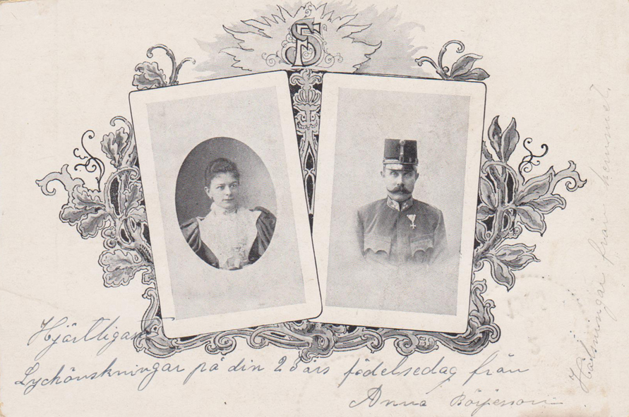 A postcard showing the royal couple.