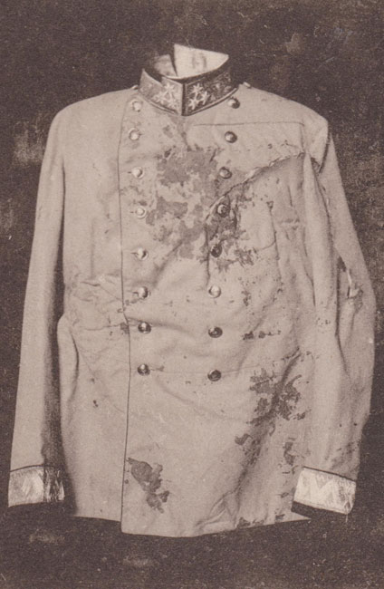 The blood-stained uniform.